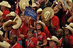 Members of the Texas delegation at the 2008 Republican National Convention in St. Paul, MN